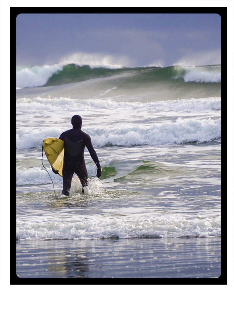 Surfing with Clayoquot Wilderness Resort.